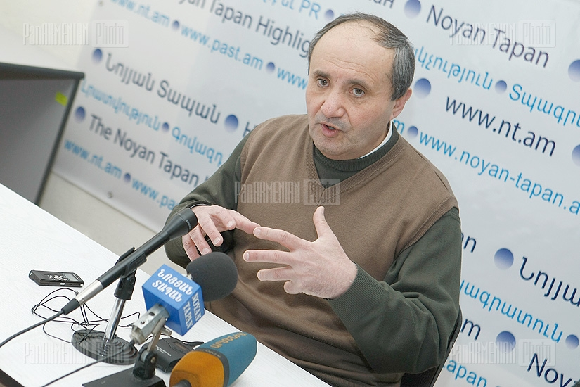 Press conference of Ashot Manucharyan
