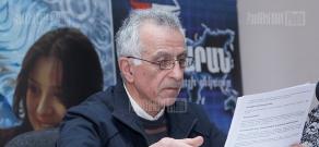 Press conference of the head of the Green Union of Armenia Hakob Sanasaryan