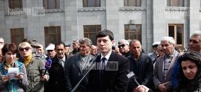 Press conference of Hovsep Khurshudyan, spokesman for Raffi Hovannisian's campaign headquarters