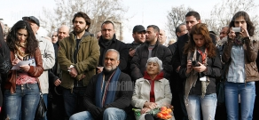 The fourth meeting of the Civil Council is held in Freedoom Square with Jirayr Sefilyan