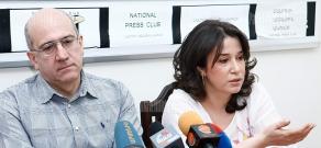 Press conference of Aram Abrahamyan and Satenik Seyranyan