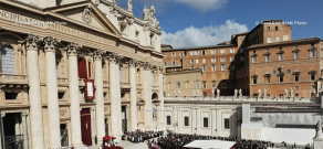 Pope Francis the First's inauguration mass on St.Peter's Square in the Vatican