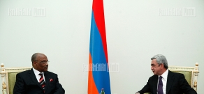RA president Serzh Sargsyan  received Zambia's ambassador to Armenia Frederick Shumba Hapunda