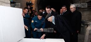 RA Minister of Emergency Armen Yeritsyan and Secretary of Armenian National Security Council Arthur Baghdasaryan visit Garni Geophysical Observatory