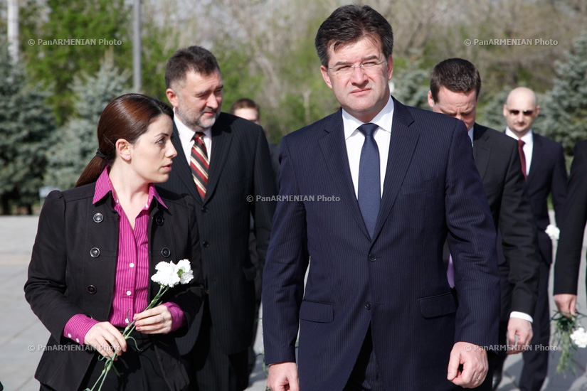 Deputy Prime Minister and Minister of Foreign and European Affairs of the Slovak Republic Miroslav Lajčák visited Armenian Genocide memorial