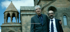 Conductor Michael Tilson Thomas visited Mother See of Holy Etchmiadzin