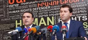 Press converence of National Security Council Secretary Arthur Baghdasaryan and Human Rights Defender of Armenia Karen Andreasyan