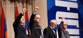 The Armenian National Congress (ANC) holds a convention at the Karen Demirchyan sports and concert complex