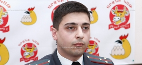 Press conference of Andrey Yashchyan, official from the cyber crime department at the Armenian Police