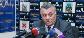 Press conference of Ruben Hakobyan