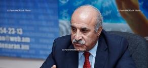 Press conference of Khosrov Harutyunyan, leader of Armenia's Christian Democratic party
