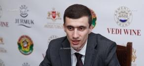 Press conference of Mesrop Arakelyan