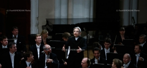 Concert of Vienna Philharmonic Orchestra (conductor Michael Tilson Thomas) and pianist Yefim Bronfman