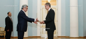 RA President Serzh Sargsyan received Paul Myler, the newly appointed Ambassador of Australia to Armenia
