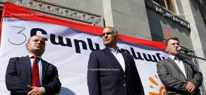 Hello Yerevan bloc of parties held a rally on Freedom Square