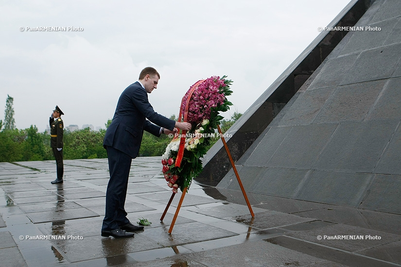 Deputy Prime Minister and Minister of Foreign Affairs and European Integration of Montenegro Igor Lukšić visits Tsitsernakaberd
