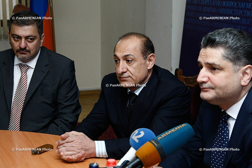 RA Prime Minister Tigran Sargsyan introduced the new Minister of Sport and Youth Affairs of Armenai Yuri Vardanyan