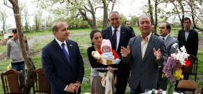 President of the National Assembly Hovik Abrahamyan met with  needy families of Aragatsotn Province