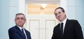 RA President Serzh Sargsyan receives the newly appointed Ambassador of New Zealand to Armenia Hamish Cooper
