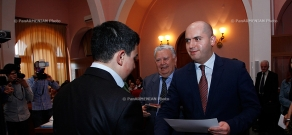 Minister of Education and Science of Armenia Armen Ashotyan  presented awards to the winners of the Republican Subject Olympiad of 2012-2013 academic year