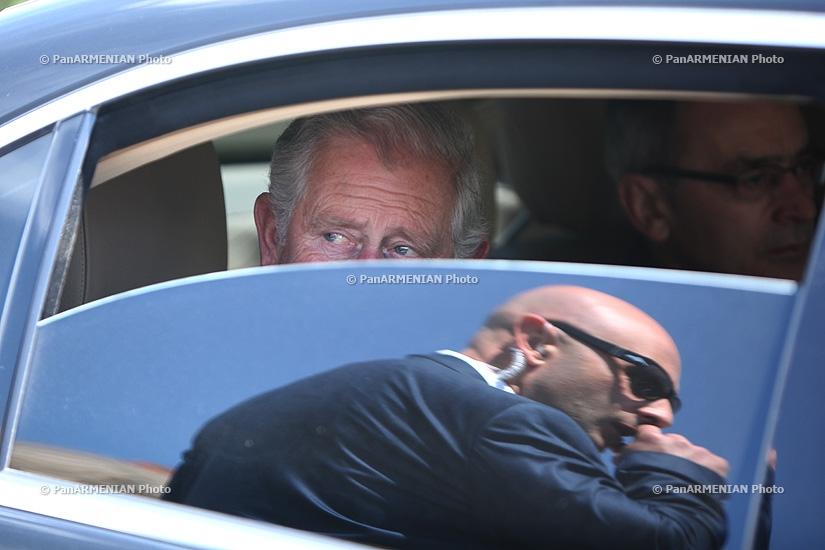 Prince Charles visited Ejmiatsin