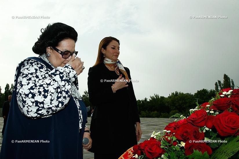 Spanish opera singer Montserrat Caballé visited Armenian Genocide Memorial Tsitsernakaberd
