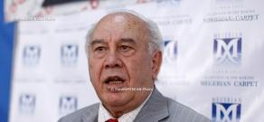 Press conference of communist party leader Ruben Tovmasyan
