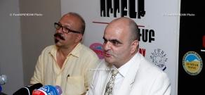 Press conference of Paruyr Hayrikyan's lawyer Levon Baghdasaryan and his friend Karo Yeghnukyan