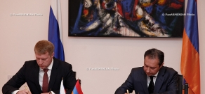 Joint briefing and  signing of the agreement between the Secretaries of Security Councils of Armenia and Russia