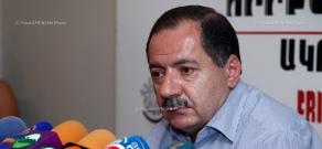 Press conference of Secretary of ARF Dashnaktsutyun parliamentary group Aghvan Vardanyan
