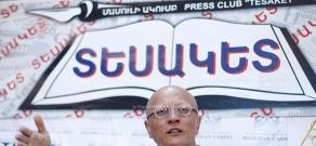 Press conference of monuments specialist Samvel Karapetyan