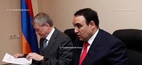 Press converence of National Security Council Secretary Arthur Baghdasaryan and Collective Security Treaty Organization (CSTO) Secretary General  Nikolay Bordyuja