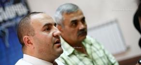 Press conference of military expert David Jamalyan and politician Levon Melik-Shahnazaryan