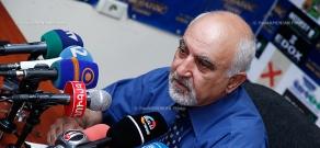 Pres confernece of  leader of the National Self-Determination Union Paruyr Hayrikyan