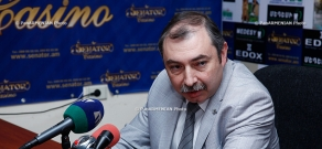 Press conference of Hayk Babukhanyan, deputy of the NA RPA faction, chairman of Constitutional Right Union