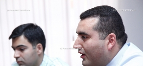 Press conference of Gevorg Melkonyan, candidate of Historical Sciences,  lecturer of YSU  and Edgar Shatiryan, the Assistant in the Chair of Constitutional Law of the YSU Faculty of Law