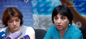 Press conference of the ethnographer Sona Papikyan and the organizer of the event