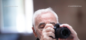 Famous chansonnier Charles Aznavour visits Etchmiadzin