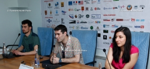 Press conference of Adrine Grigoryan and Gurgen Janibekyan within the frameworks of Golden Apricot 10th Film Festival