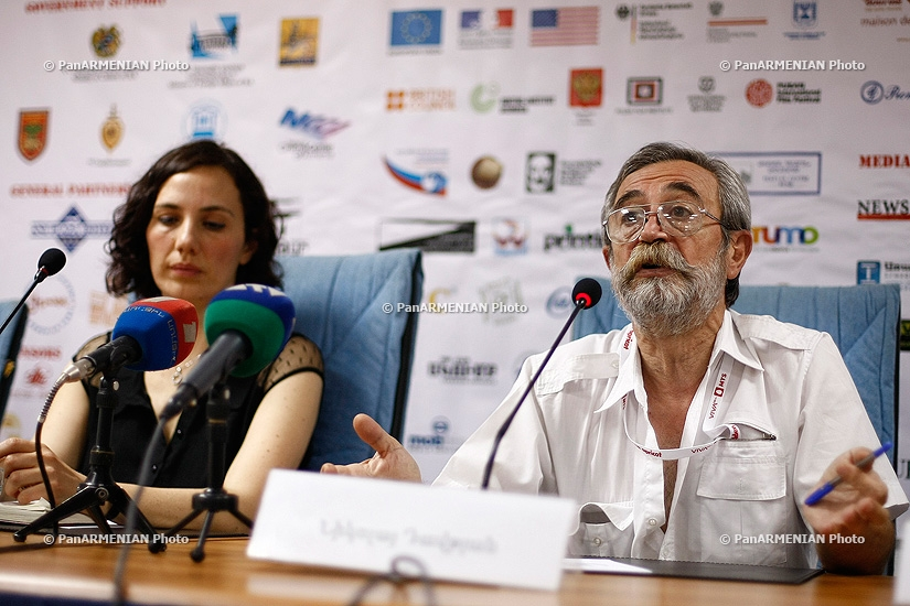 Press conference of Marat Sargsyan, Nikolay Davtyan and Marlen Edoyan  within the frameworks of Golden Apricot 10th Film Festival