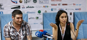 Press conference of Ara Chagharyan and Tamara Stepanyan within the frameworks of Golden Apricot 10th Film Festival
