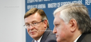 Joint press conference of RA Minister of Foreign Affairs Edward Nalbandyan and  OSCE Chairperson, Ukrainian Foreign Minister Leonid Kozhara