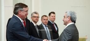 RA President Serzh Sargsyan receives OSCE Chairperson, Ukrainian Foreign Minister Leonid Kozhara