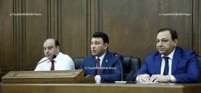 Press conference of Eduard Sharmazanov, Armenian National Assembly's Vice President
