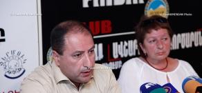 Press conference of Hayk Alumyan, lawyer of colonel Artak Budaghyan