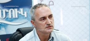 Press conference of film Director Tigran Khzmalyan