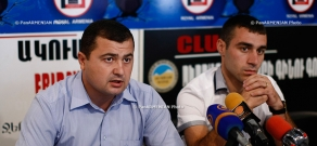Press conference of Gerasim Vardanyan, Chairman of Nikol Aghbalyan Student Union and Mher Ghazaryan