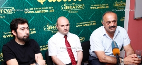 Press conference of The Beautified Project's solist Andre Simonyan and Sedrak Mamulyan