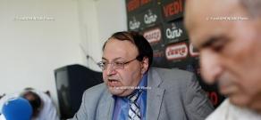 Press conference of Hmayak Hovhannisyan and Aledxander Manasyan