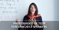 Photoshoot of TEDxYerevan 2013 speakers